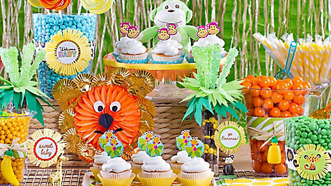 Jungle Animals Candy Buffet Ideas