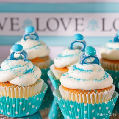 Engagement Ring Bridal Shower Cupcakes Idea