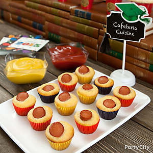 Mini Baking Cup Corn Dogs Idea
