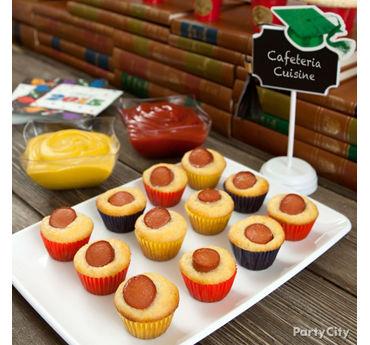 Mini Baking Cup Corn Dogs Idea