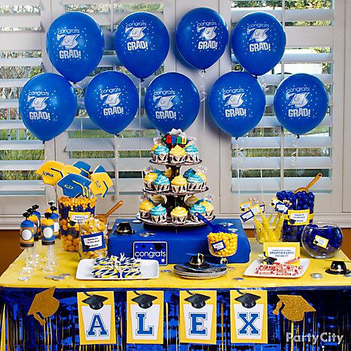 School Colors Sweets & Treats Table Idea