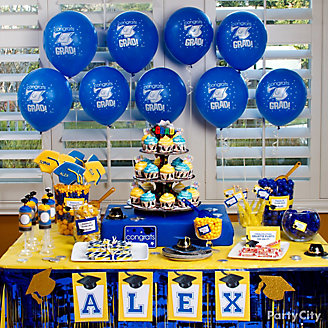 School Colors Sweets & Treats Table Idea