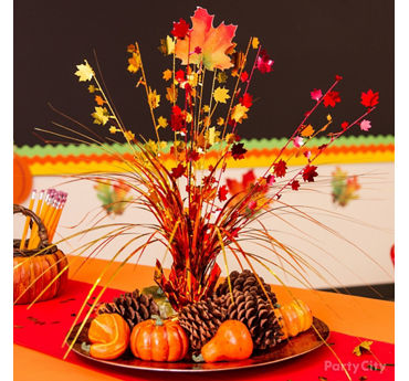 Fall Platter Centerpiece Idea