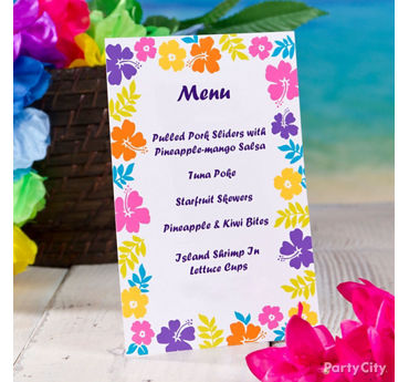 Tropical Party Invitation Idea