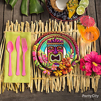 DIY Raffia Placemat Idea