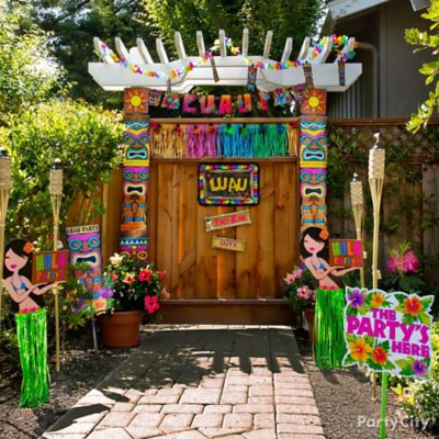 Luau Entrance Decorating Idea