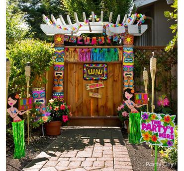 Luau Entrance Decorating Idea