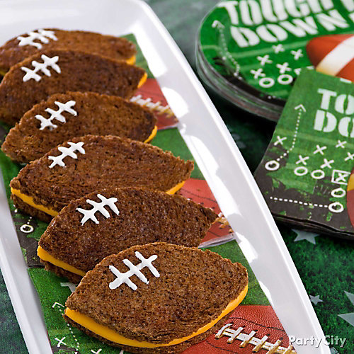 Football Grilled Sandwiches Idea