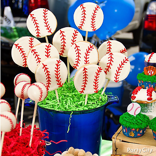 Baseball Cookie Pops Idea