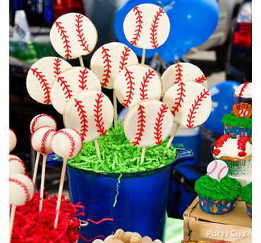 Baseball Cookie Pops Idea