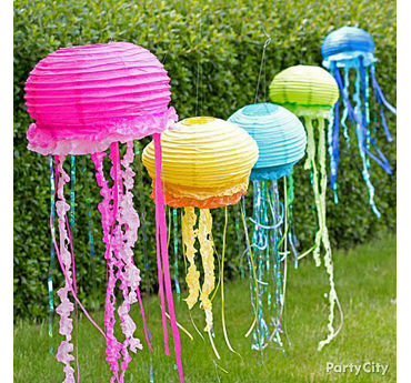 DIY Paper Lantern Jellyfish Decorations How To