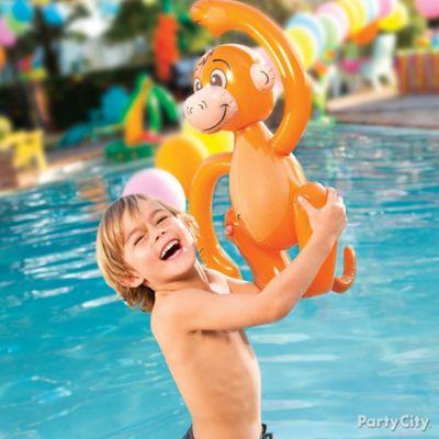Tropical Pool Toys Idea