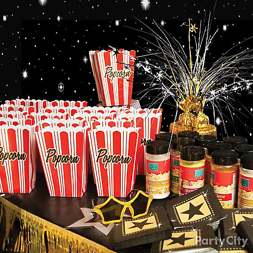 Movie Theater Popcorn Bar Idea