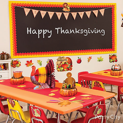 Thanksgiving Classroom Wall Decor : Thanksgiving class decorating idea