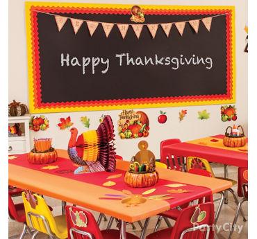 Thanksgiving Class Decorating Idea