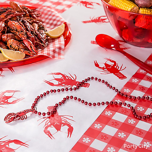 Crawfish Table Runner Idea Cajun Crawfish Boil Ideas