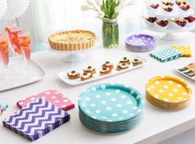 Spring Dots and Chevron Brunch Ideas