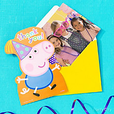 Peppa Pig Photo Thank You Note Idea