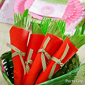 Carrot Easter Utensils Idea