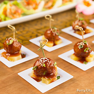 Teriyaki Meatball and Pineapple Idea