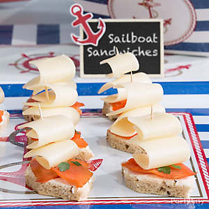 Sailboat Salmon Sandwich Idea