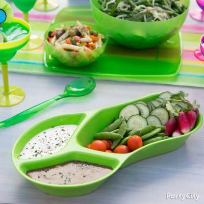 Veggie Flip Flop Idea