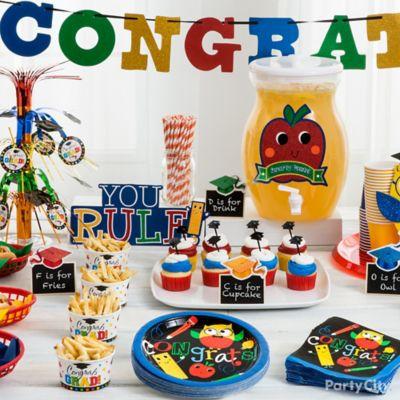 Kids Graduation Party Table Idea