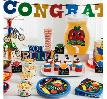 Kids Graduation Party Table Idea