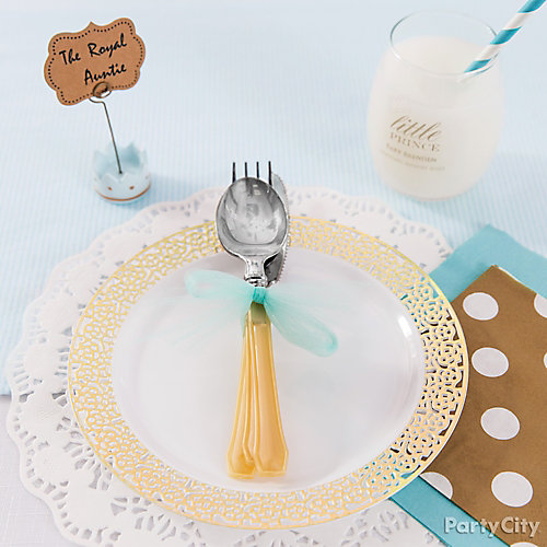 Prince Baby Shower Place Setting Idea