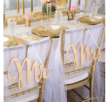 Gold Glam Couple Chairs Idea