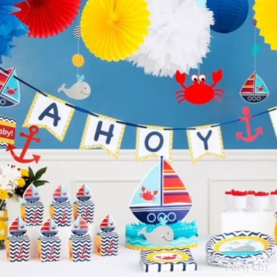 Ahoy Baby Decorations Idea