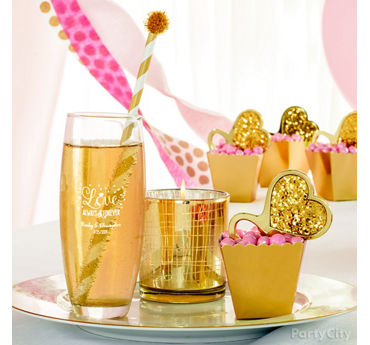 Sparkling Bridal Shower Favors Idea