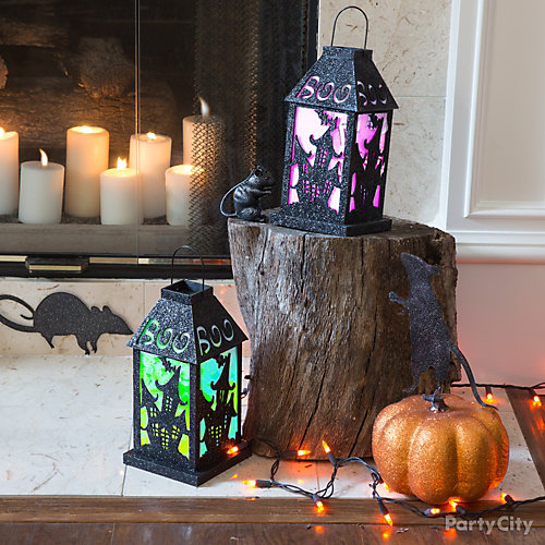 Spooky Lanterns Hearth Idea