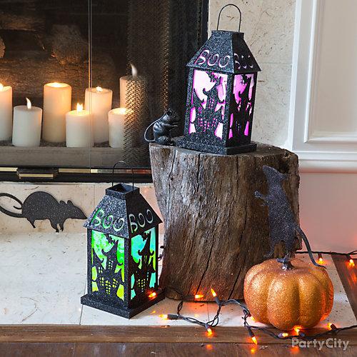Spooky Lanterns Hearth Idea