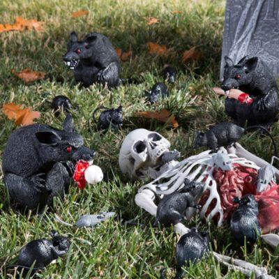 Rats Feeding On Skeleton Idea
