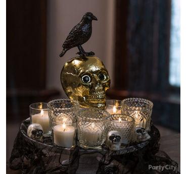 Gold Skull Centerpiece Idea