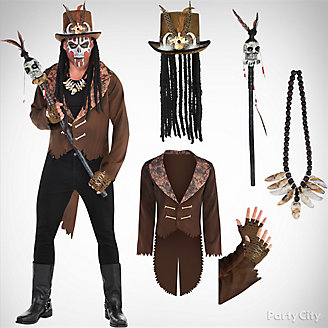 Mens Witch Doctor Costume Idea