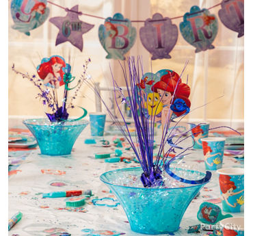 Little Mermaid Splashy Centerpiece DIY