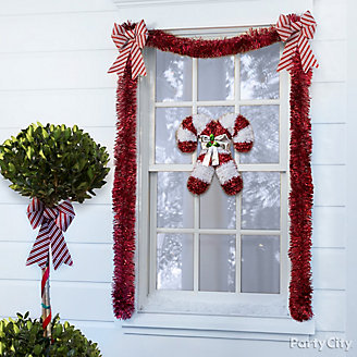 Candy Cane Theme Window Idea