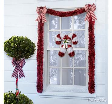 Candy Cane Theme Window Idea