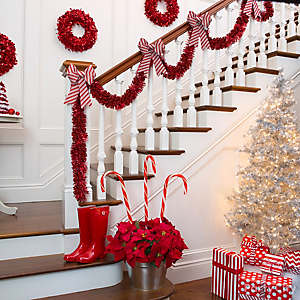 Candy Striped Stairway Décor Idea
