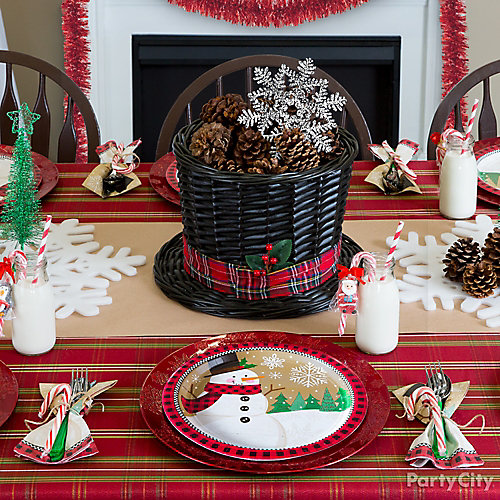 Snowman Splendor Table Setting Idea