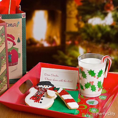 Snowman & Candy Cane Cookies for Santa Idea