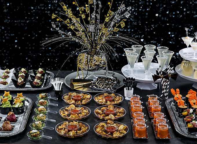 NYE Black and White Mini Tasting Ideas