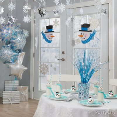 Winter Snowman Party Room Idea