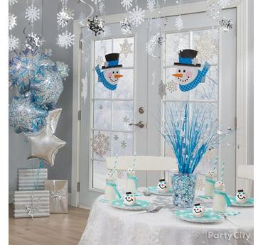 Winter Snowman Party Room Idea