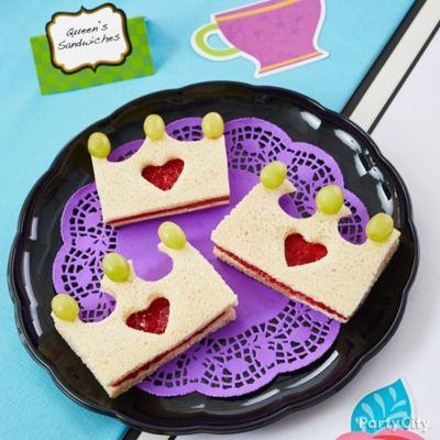 Queen of Hearts Sandwiches Idea