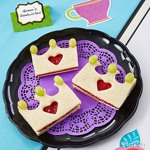 Queen of Hearts Sandwiches Idea