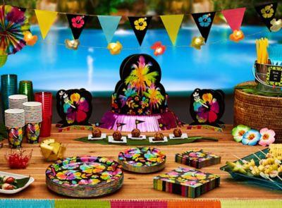 Neon Paradise Luau Party Ideas