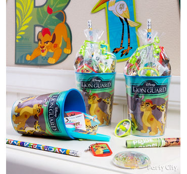 Lion Guard Favor Cup Idea